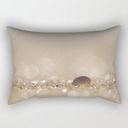 Seashell in the Sparkly Beach Sand Rectangular Pillow