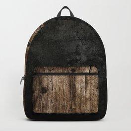 Black Grunge & wood pattern Backpack
