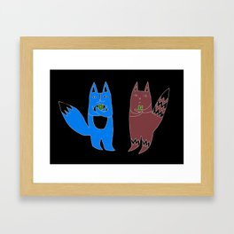Cats With Hearts Framed Art Print