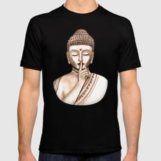 Buddha Shh.. Do not disturb - Colored version 2X-LARGE Mens Fitted Tee Black