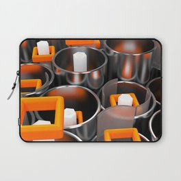 Metal tubes, hexagons and glass Laptop Sleeve