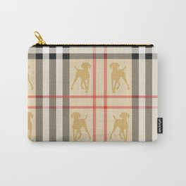 WEIMARANERS AND BEIGE PLAID Carry-All Pouch