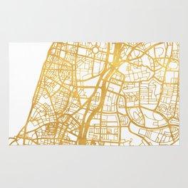 TEL AVIV ISRAEL CITY STREET MAP ART Rug