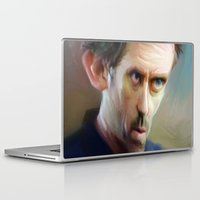house md Laptop & iPad Skins featuring house md by robotrake