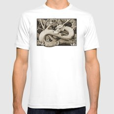 Tree Dragon Mens Fitted Tee MEDIUM White
