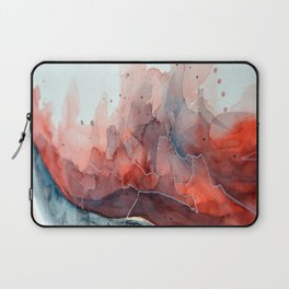 Watercolor red & blue TEXTURE Laptop Sleeve