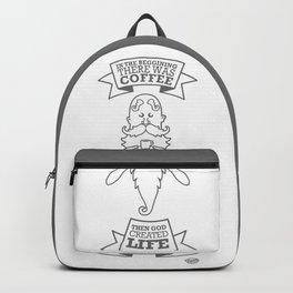 Coffe, God & Life. Backpack