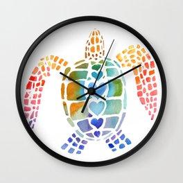 Hug a Sea Turtle Wall Clock
