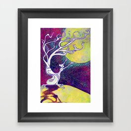 Longing for Luna Framed Art Print