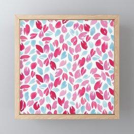 Watercolour Petals | Pink and Blue Framed Mini Art Print