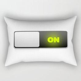 On button Rectangular Pillow