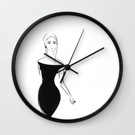 Lady in Black Wall Clock