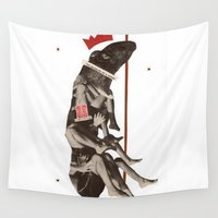 rat Wall Tapestries featuring King Rat  by Jeff Taylor