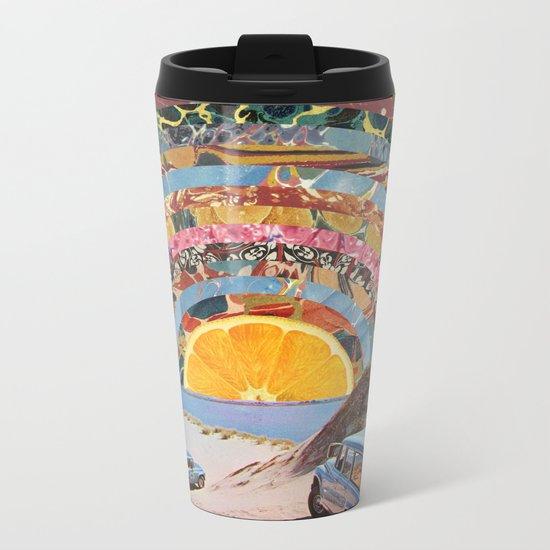 Orange sunset Metal Travel Mug