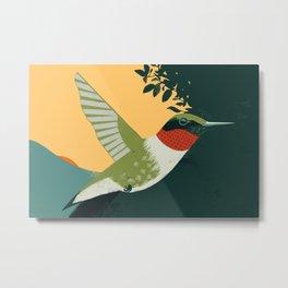Ruby-Throated Hummingbird Metal Print