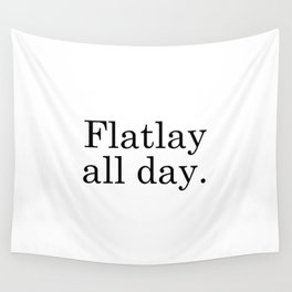 Flatlay All Day - White Wall Tapestry