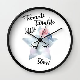 Twinkle, twinkle little star Wall Clock