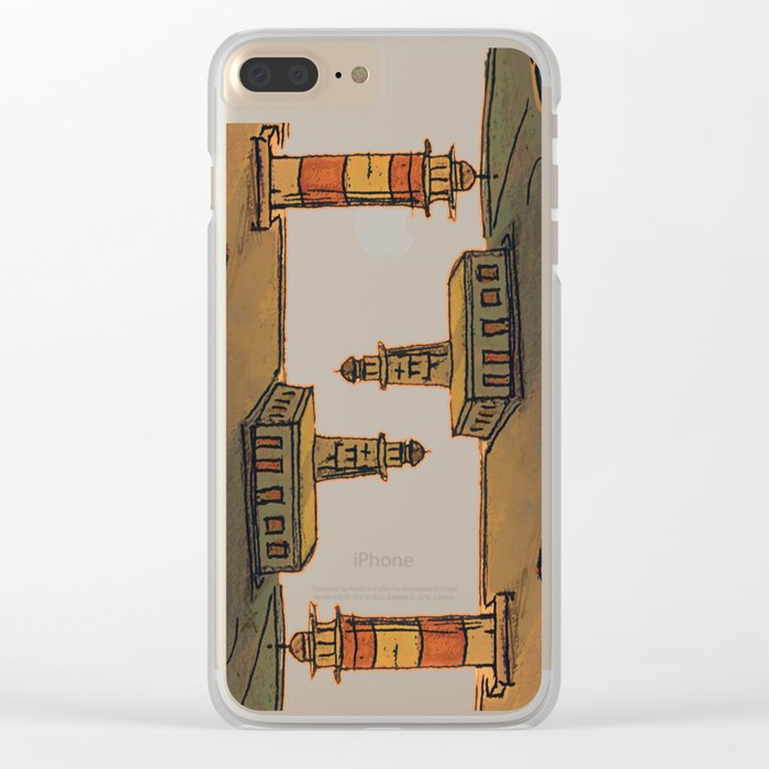 In Love with the Sea / Lighthouses Fuencaliente Clear iPhone Case