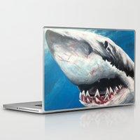 shark Laptop & iPad Skins featuring Shark by Kristin Frenzel