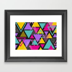 Colorul Triangle Abstract Framed Art Print