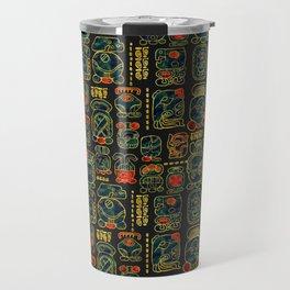 Maya Calendar Glyphs pattern Travel Mug