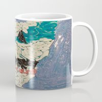 jaws Mugs featuring Jaws by Emily Condie