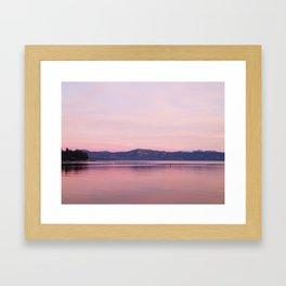 Rose Colored Dream of Lake Tahoe Framed Art Print