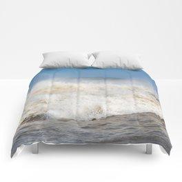 Stormy Ocean waves seascape Comforters