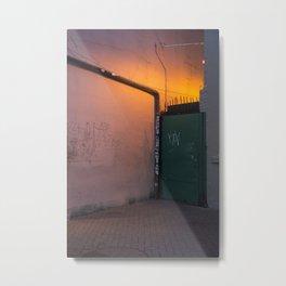 Neon Glow Metal Print