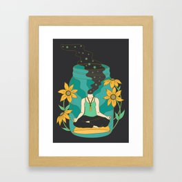 Meditation in a Jar Framed Art Print