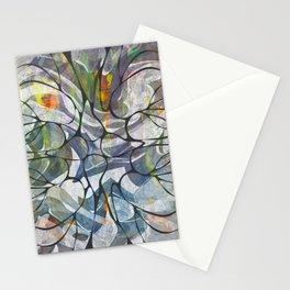 Abstract Flower Pattern Stationery Cards