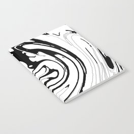 Black, White and Graphic Paint Swirl Pattern Effect Notebook