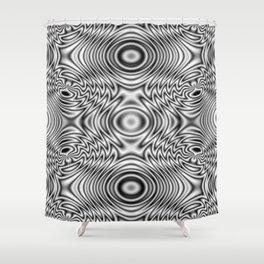 Spider theme B&W Bonitum Ornament #J Shower Curtain