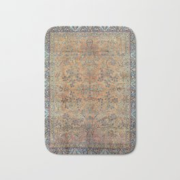 Kashan Floral Persian Carpet Print Bath Mat