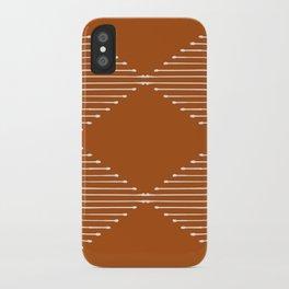 Geo (Rust) iPhone Case