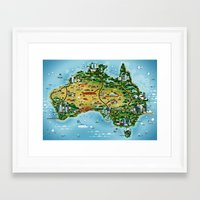 australia Framed Art Prints featuring Australia by Steebz