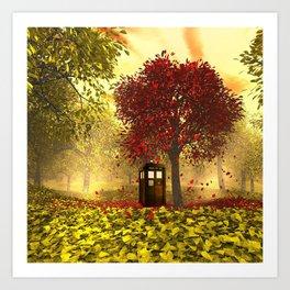 Tardis autumn Art Print