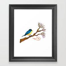 Bird on Branch Framed Art Print