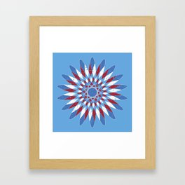 Distressed Kaleidoscope Framed Art Print
