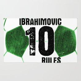 Ibrahimovic 10 Rules Rug