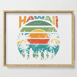 Retro Hawaiian Sunset Serving Tray