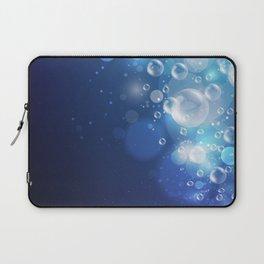 Illustraiton of underwater background with light rays Laptop Sleeve