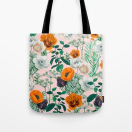 Wildflowers #pattern #illustration Tote Bag