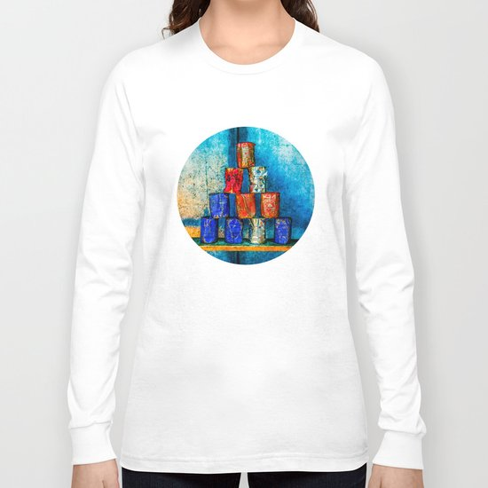 Soup Cans - Square Meal Long Sleeve T-shirt