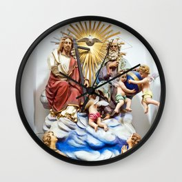 ANGELS - JESUS - GOD - SICILY - Church of THE GODFATHER - Forza d'Agro Wall Clock