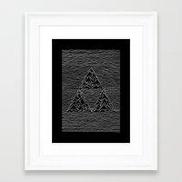 joy division Framed Art Prints featuring Triforce // Joy Division by Daniel Mackey