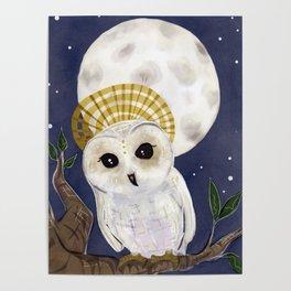 Holy Saint Little Owl Poster