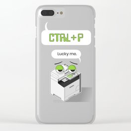 Designer's Best Friend Clear iPhone Case