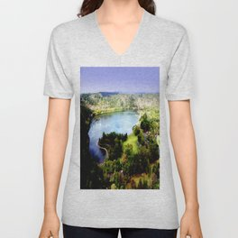 Leg of Mutton Lake Unisex V-Neck