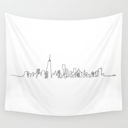 New York City Skyline Wall Tapestry